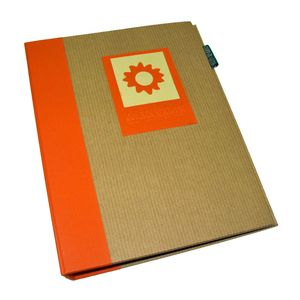 Green Earth Orange Sun Mini 7x5 Slip In Photo Album - 36 Photos