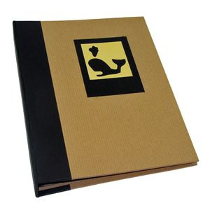 Green Earth Black Whale Mini 7x5 Slip In Photo Album - 36 Photos