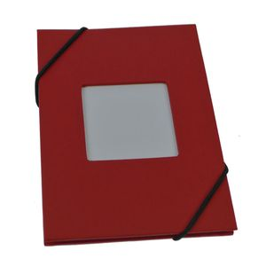 Leporello Red 6x4 Slip In Photo Album - 24 Photos