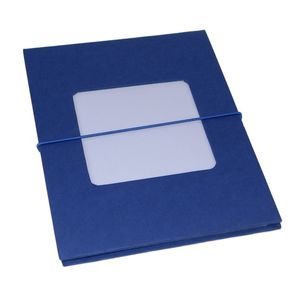 Leporello Blue 7x5 Slip In Photo Album - 24 Photos