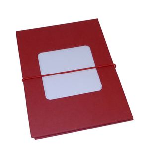 Leporello Red 7x5 Slip In Photo Album - 24 photos