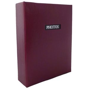 """Elegance Red 6x4 Slip In Photo Album - 100 Photos Overall Size 6.5x5"""""""