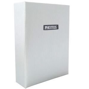 "Elegance White 6x4 Slip In Photo Album - 100 Photos Overall Size 6.5x5"""