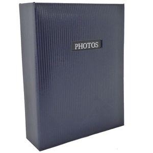 "Elegance Blue 7x5 Slip In Photo Album - 100 Photos Overall Size 7.5x6"""