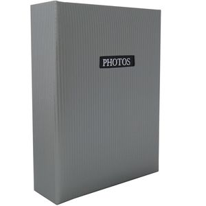 "Elegance Grey 7x5 Slip In Photo Album - 100 Photos Overall Size 7.5x6"""