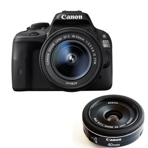 Canon EOS 100D Digital SLR Camera with 18-55mm IS STM and 40mm STM Lenses