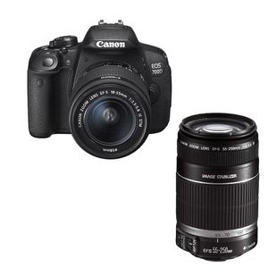 Canon EOS 700D Digital SLR Camera with 18-55mm IS STM and 55-250mm IS II Lenses