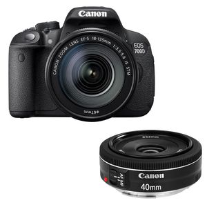 Canon EOS 700D Digital SLR Camera with 18-135mm IS STM and 40mm STM Lenses