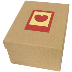 Green Earth Red Heart Photo Box for 700 7x5 Photos