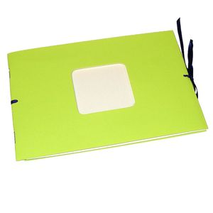 Mini Green Traditional Photo Album - 12 Sides