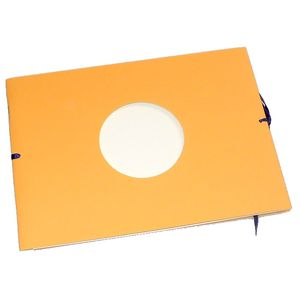 Mini Orange Traditional Photo Album - 12 Sides