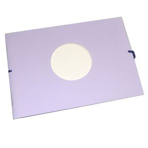Mini Purple Traditional Photo Album - 12 Sides