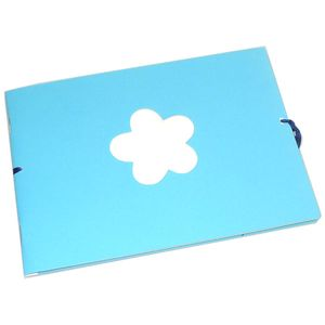 Mini Turquoise Traditional Photo Album - 12 Sides
