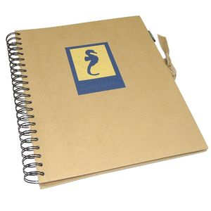 Green Earth Blue Seahorse Spiral Photo Album - 40 Sides