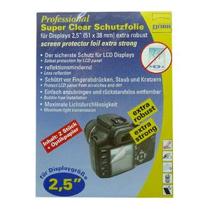 Dorr Professional Super Clear Display Protector Foil 2.5""