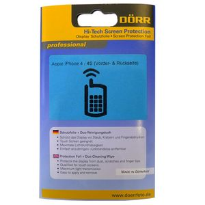 Dorr Hi Tech Anti-Reflection Display Protection Foil for iPhone 4/4S Front and Back