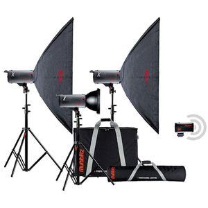 Multiblitz X Lite 1500Ws Studio Flash Triple Kit