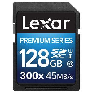 Lexar 128GB Premium Series SDHC UHS-I 300x Class 10 Memory Card