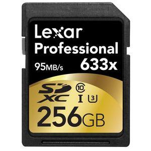 Lexar 256GB Professional UHS-I SDHC 633x Class 10 Memory Card