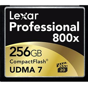 Lexar 256GB Professional UDMA CompactFlash 800x Memory Card