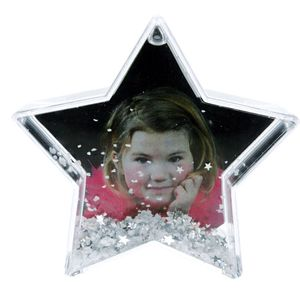 Dorr Star Shaped Snow Globe with Snow and Stars