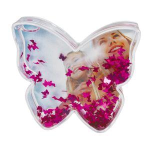 Dorr Butterfly Shaped Snow Globe with Glitter Butterflies