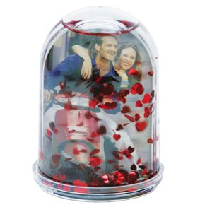 Dorr High Snow Globe with Red Hearts