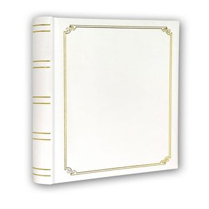 White and Gold Self Adhesive Photo Album Overall Size 11.75x12.5""