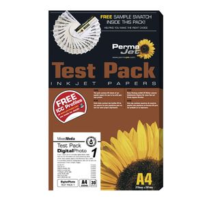 Permajet Digital Photo Test Pack Printing Paper A4, 30 Sheets