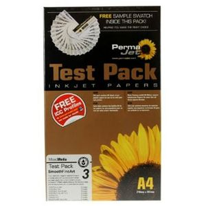 Permajet Smooth Fine Art Test Pack Printing Paper A4 - 12 Sheets