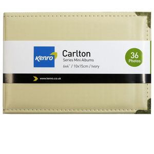 Carlton Leatherette Ivory 6x4 Slip In Photo Album - 36 Photos