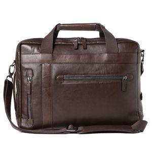 Barber Shop Undercut Dark Brown Leather Convertible Shoulder Bag