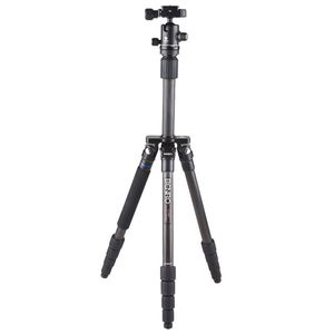 Benro C2182T Flat Traveller 2 Tripod Carbon Twist Lock with B1 Head - 4 Sections