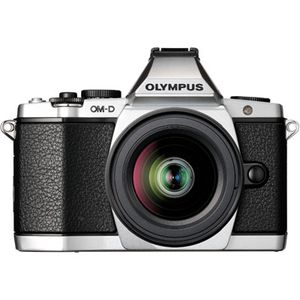 Olympus OM-D E-M5 Silver Digital Camera,12-50mm Lens, FL-LM2 Flash