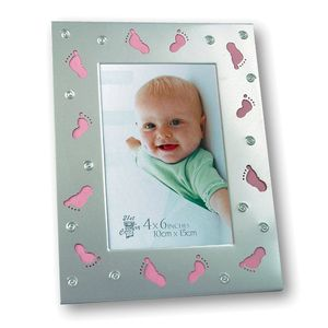 Chicca Baby Girl Feet Silver Photo Frame