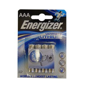 Energiser AAA Ultimate Lithium 1.5V Battery Pack of 4