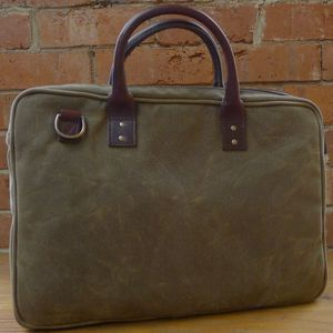 Ex-Demo ONA Kingston Field Tan Briefcase Bag