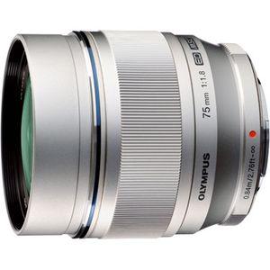 Ex-Display Olympus 75mm f1.8 ED M.ZUIKO Silver Micro Four Thirds Lens