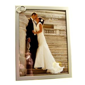 Silver Wedding Rings 10x8 Photo Frame