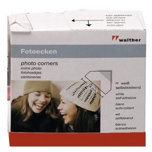 Walther Photo Corners for Traditional Photo Albums - 250pcs