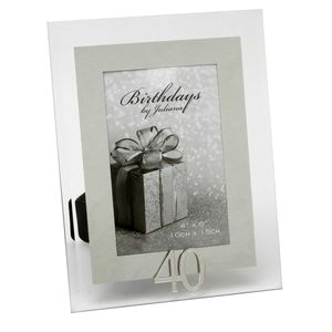 40th Birthday Glass and Mirror 6x4 Photo Frame