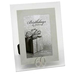 60th Birthday Glass and Mirror 6x4 Photo Frame