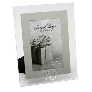 70th Birthday Glass and Mirror 6x4 Photo Frame
