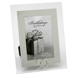 90th Birthday Glass and Mirror 6x4 Photo Frame