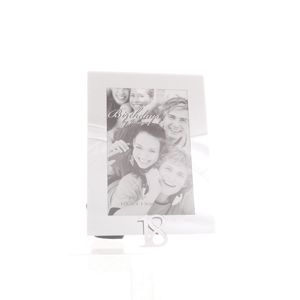 18th Birthday Glass and Mirror 6x4 Photo Frame