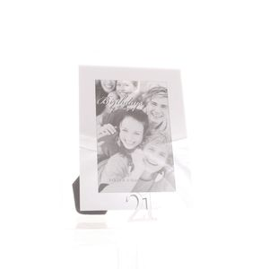 21st Birthday Glass and Mirror 6x4 Photo Frame