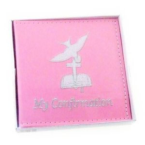 Girls Pink Confirmation Day 6x4 Slip In Photo Album - 50 Photos