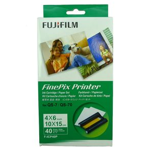 Fujifilm Finepix F-ICP40P Ink Cartridge and Paper Set For the QS-7 QS-70