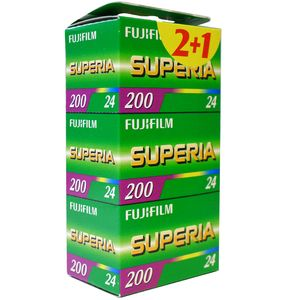 Fujifilm Superia 200 24 Exposure Colour Print Film Triple Pack