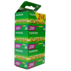 Fujifilm Superia 200 36 Exp Colour Print Film Triple Pack